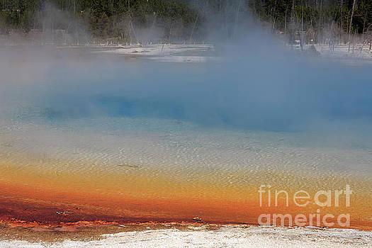 Sunset Lake in Black Sand Basin Yellowstone National Park by Louise Heusinkveld