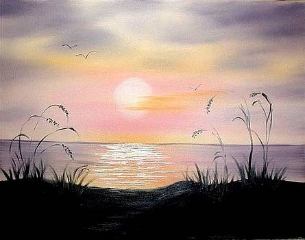 Sunset Lake by Natascha de la Court