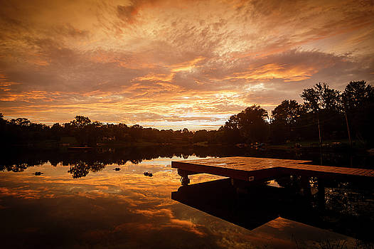 Sunset Lake by Notley Hawkins
