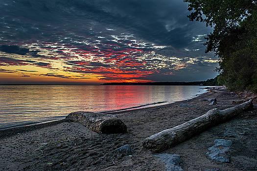 Sunset Lake Ontario by Tim Buisman