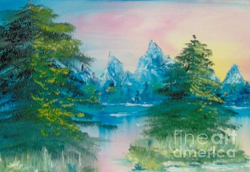 Sunset Lake by Saundra Johnson