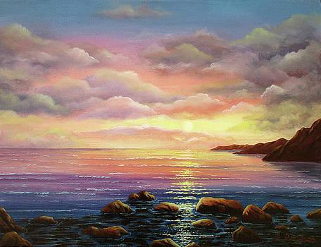 Sunset last light by Debra Dickson