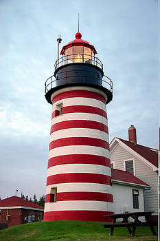 Sunset Lighthouse by Brenda Giasson