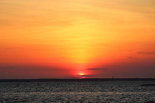Sunset Long Beach Island by Stacie Fernandes