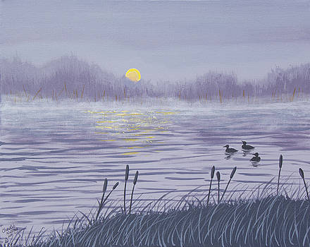 Sunset Loons by Christie Nicklay