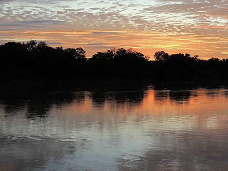 Sunset, Luangwa River, Zambia by Krin Van Tatenhove