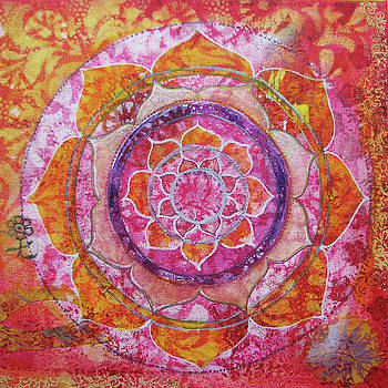 Sunset Mandala by Louise Gale