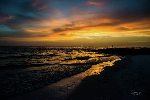 Sunset Marco Island - 5577a by Debra Kewley