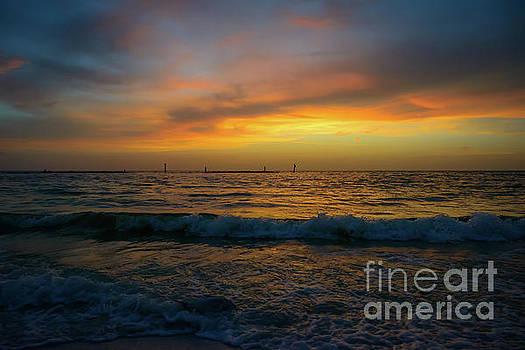 Sunset Marco Island - 5581a by Debra Kewley