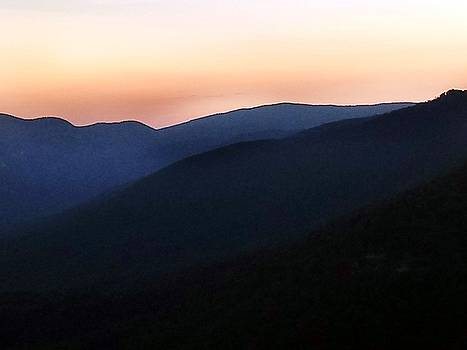 Sunset Mountain Layers by Kathy Barney
