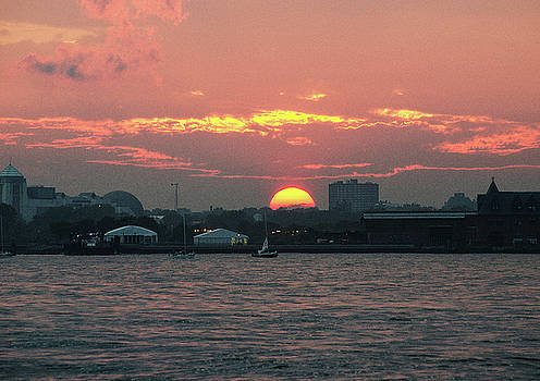 Sunset NYC Harbor by William Kimble