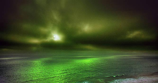 Daniel Furon - Sunset Ocean Beach thru Sunglasses