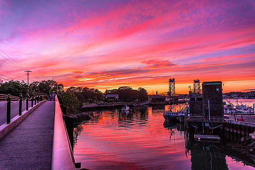 Sunset of the Summer Sunset From the Peirce Island Bridge by Devin LaBrie