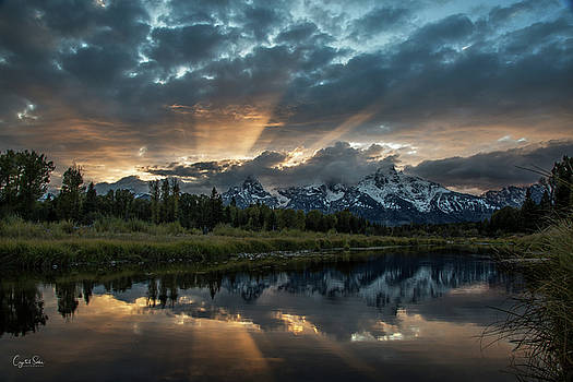 Sunset of the Tetons by Crystal Socha