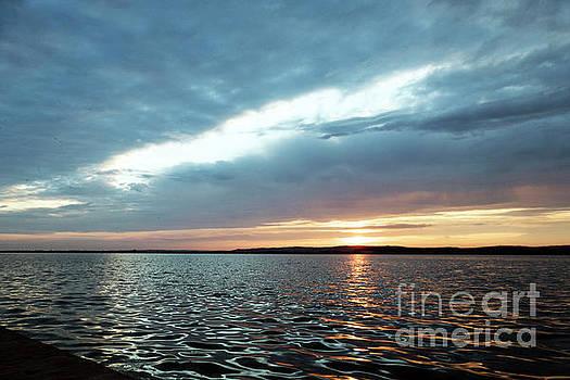 Sunset of Velence lake by Odon Czintos