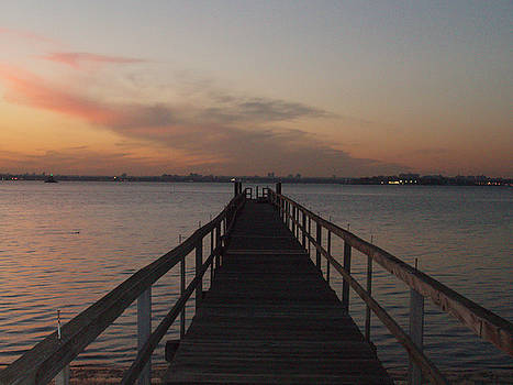 Sunset off the Pier by Bill Ades