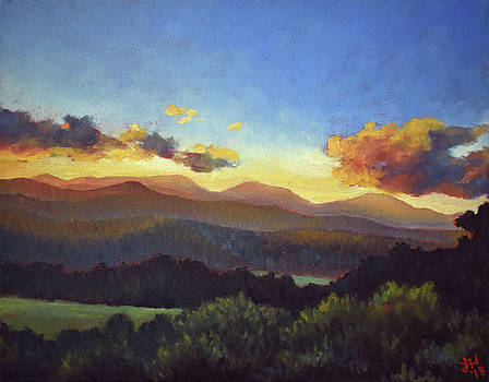 Sunset on Ashe County by Lauren Waterworth