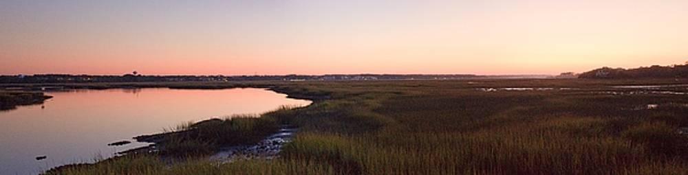 Sunset on Broad Creek Hilton Head South Carolina by Thomas Marchessault