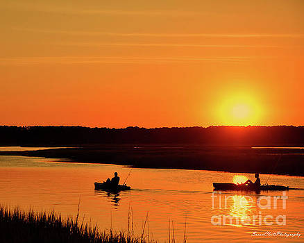 Sunset on Broad Creek by Susan Cliett