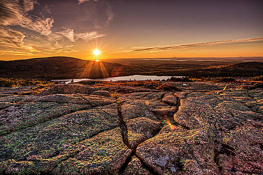 Sunset on Cadillac Mountain by Joe Paul