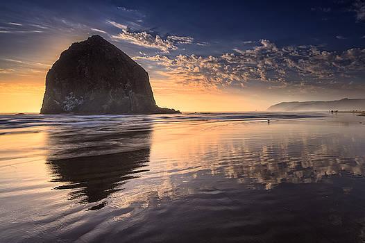 Rick Berk - Sunset on Cannon Beach