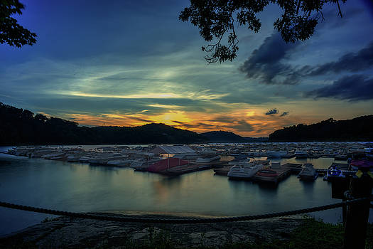 Sunset on Cheat Lake by Dan Friend