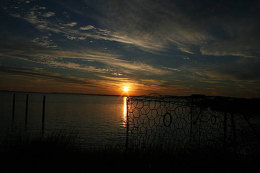 Sunset on Curriomen Bay Virginia by Trish Jenkins