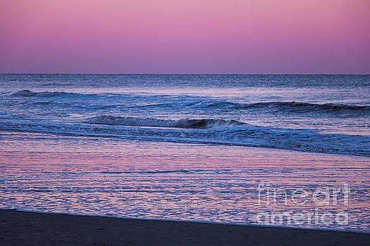 Sunset on Forest Beach Hilton Head by Thomas Marchessault