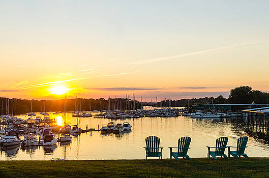 Sunset On Georgetown Harbor by Steve Atkinson