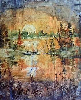 Sunset on Hegman Lake by Sarah Guy-Levar