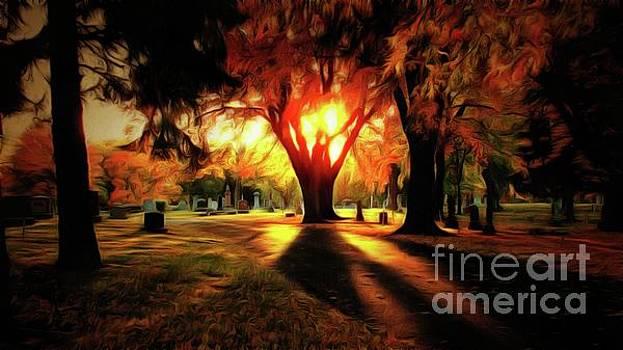 Sunset on Hillside Memorial by Putterhug Studio