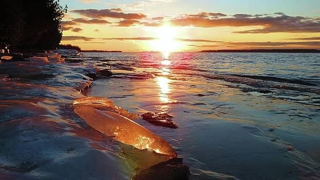Sunset on Ice by Dennis McCarthy