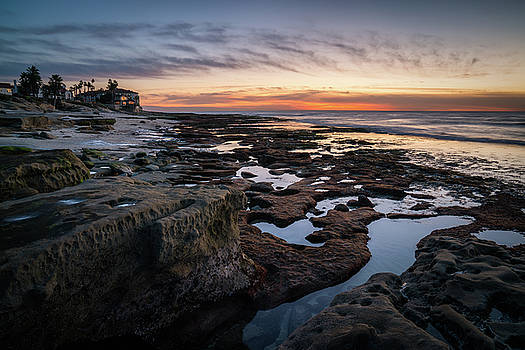 Sunset on La Jolla Coast by James Udall