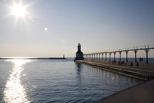 Jeannie Burleson - Sunset on Lake Michigan