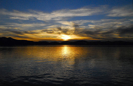 Sunset on Lake Tahoe by Al Junco