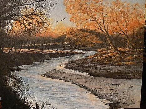 Sunset on Mustang Creek by Gary McGaugh