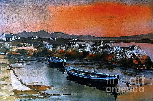 Val Byrne - Sunset on Mweenish, Galway