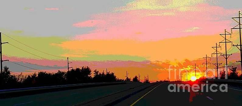 Sunset on Ol' 66 by J Anthony Shuff