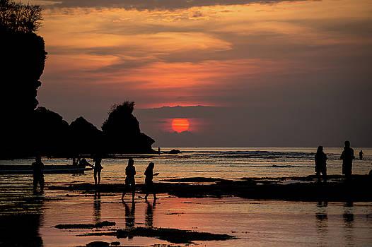 Sunset on Pandang Beach by Elyssa Drivas