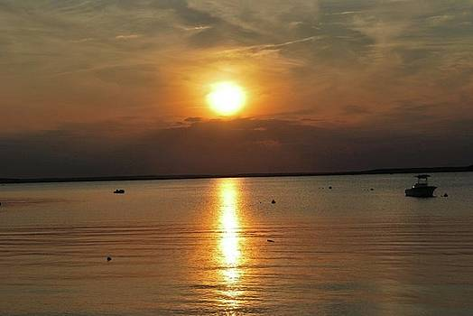 Sunset on Pocasset by Cathy Hacker