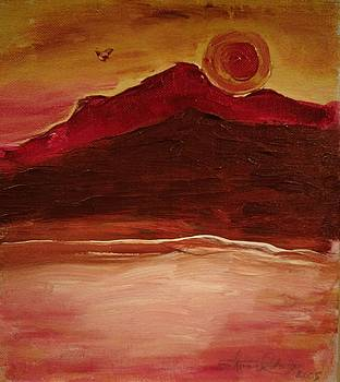 Sunset On Red Mountain by Edward Longo
