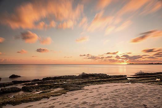 Sunset on Seven Mile Beach by Elyssa Drivas