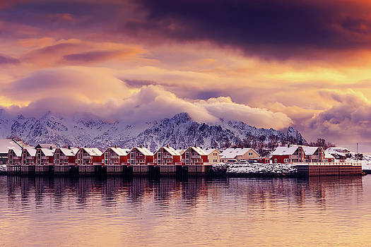 Sunset on Svolvaer by Philippe Sainte-Laudy