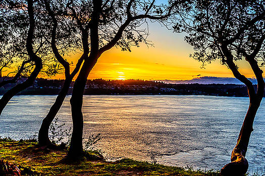 Sunset on Tacoma Narrows by Rob Green