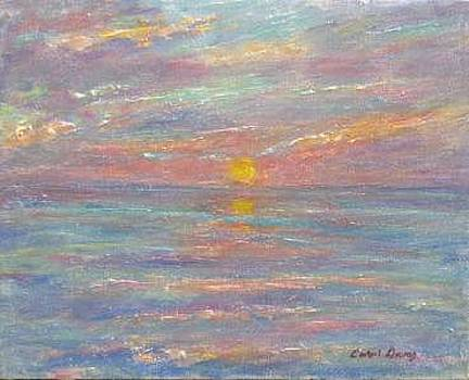 Sunset On The Bay by Carol Gray