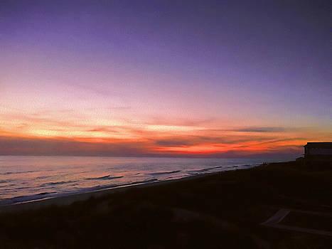 Sunset on the beach at Cape San Blas, Florida by WildBird Photographs
