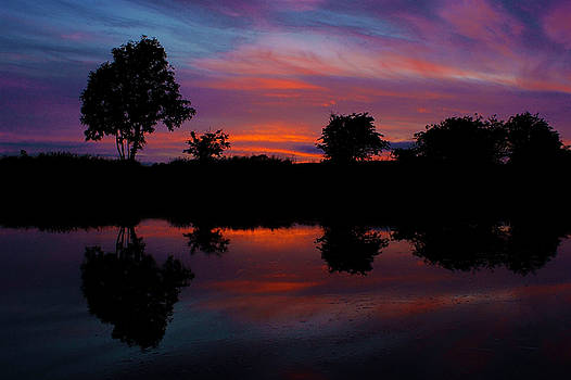 Sunset on the Bladnoch by Andy Beattie Photography