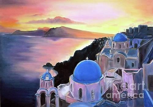 Derek Rutt - Sunset On The Blue Roofs