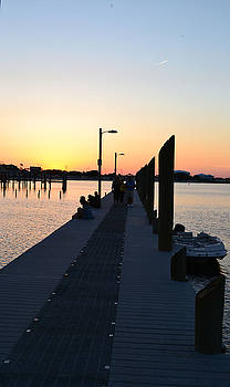 Sunset On The Board Walk. by Carrie Cooper