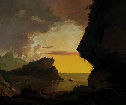 Wright Joseph - Sunset On The Coast Near Naples